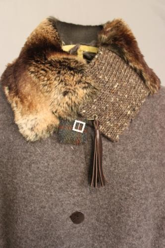 'Prussia' Collar - Faux Ginger Brown Bear