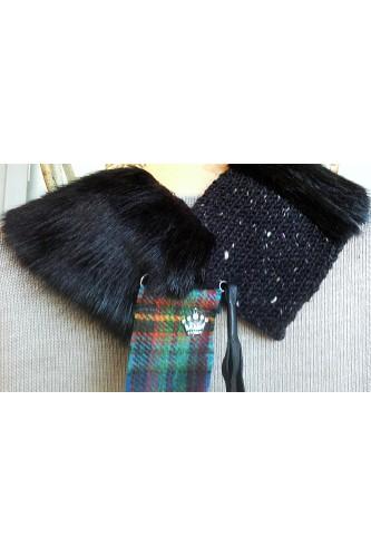 'Prussia' Collar - Faux Black Bear