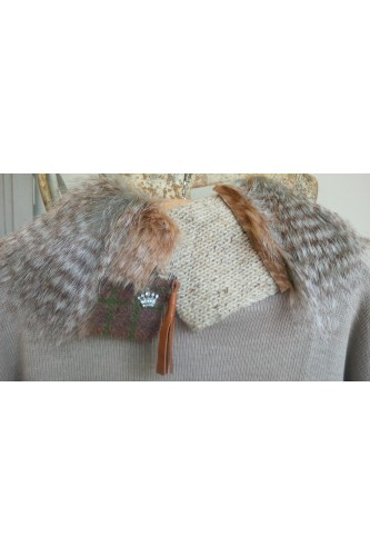 'Prussia' Collar - Faux Brown Wolf